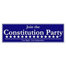 Constitution Party Bumper Car Sticker