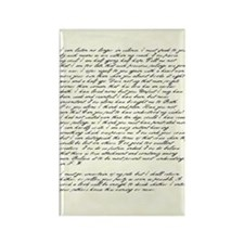 Jane Austen Persuasion Letter Rectangle Magnet