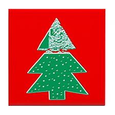 Christmas Tree Holidays Tile Coaster/Trivet