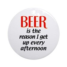 Beer is the Reason Ornament (Round)