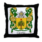 Caceres Family Crest Throw Pillow