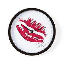 Stript Kiss Wall Clock