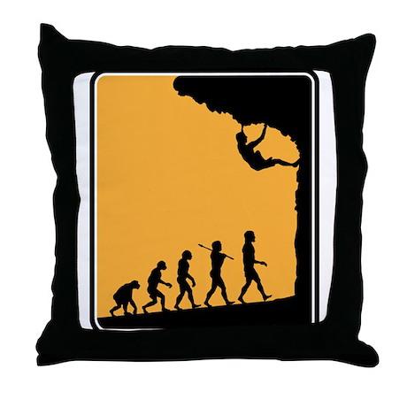 Rock Climber Throw Pillow