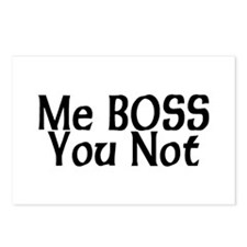 Me Boss, You Not Postcards (Package of 8)