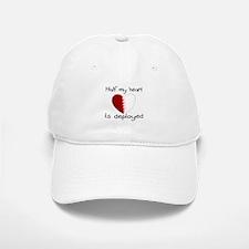 Half My Heart Is Deployed Baseball Baseball Cap