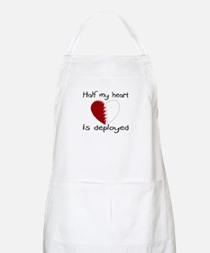 Half My Heart Is Deployed BBQ Apron