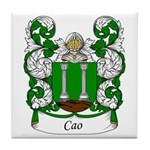 Cao Family Crest Tile Coaster