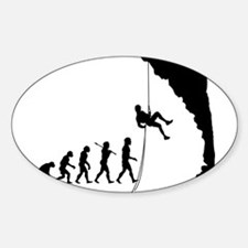 Rock Climber Oval Decal