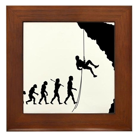 Rock Climber Framed Tile