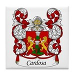 Cardoso Family Crest Tile Coaster