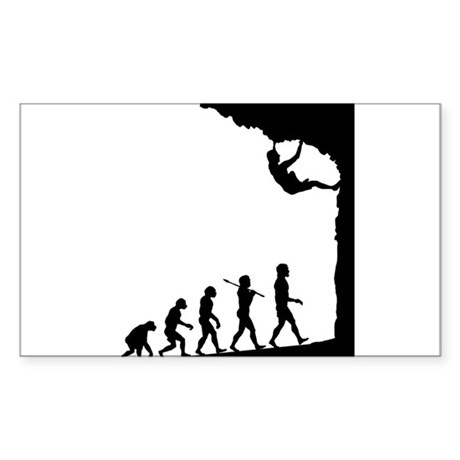 Rock Climber Rectangle Sticker
