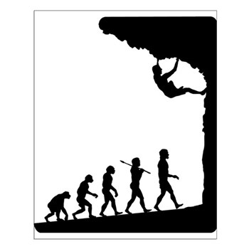 Rock Climber Small Poster