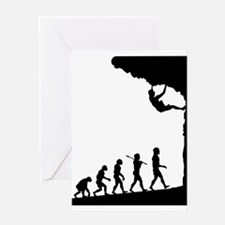 Rock Climber Greeting Card