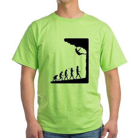 Rock Climber Green T-Shirt