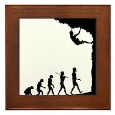 Rock Climber Framed Tile