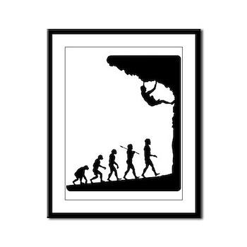 Rock Climber Framed Panel Print