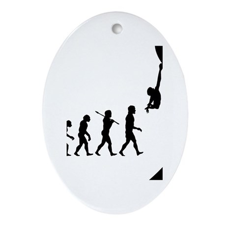 Rock Climber Oval Ornament