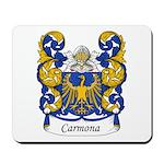 Carmona Family Crest Mousepad