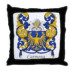 Carmona Family Crest Throw Pillow