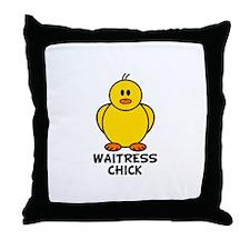Waitress Chick Throw Pillow
