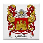 Carrilho Family Crest Tile Coaster