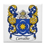 Carvalho Family Crest Tile Coaster