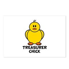 Treasurer Chick Postcards (Package of 8)