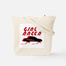 GIRL RACER/CAR Tote Bag