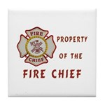 Fire Chief Property Tile Coaster