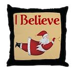 Flying Santa Throw Pillow