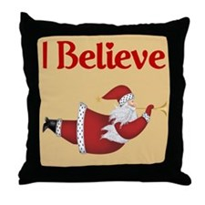 Flying Santa Throw Pillow