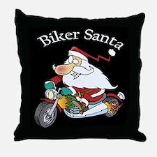 Biker SantaThrow Pillow