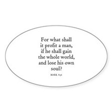 MARK 8:36 Oval Decal