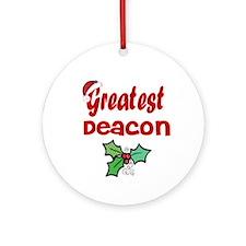 Greatest Deacon Ornament (Round)