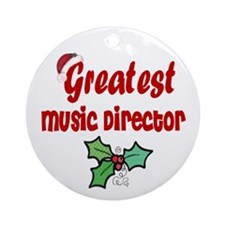 Greatest Music Director Ornament (Round)