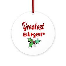Greatest Biker Ornament (Round)