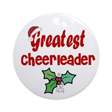 Greatest Cheerleader Ornament (Round)