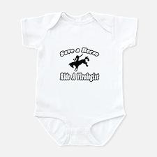 """Save Horse, Ride Virologist"" Infant Bodysuit"