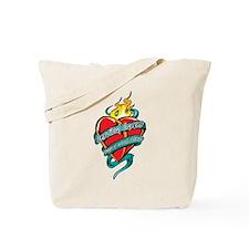 Cervical Cancer Tattoo Heart Tote Bag