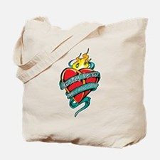 Cervical Cancer Tattoo Heart Tote Bag
