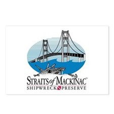 Mackinac Bridge logo Postcards (Package of 8)