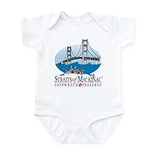 Mackinac Bridge logo Infant Bodysuit
