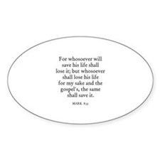 MARK 8:35 Oval Decal
