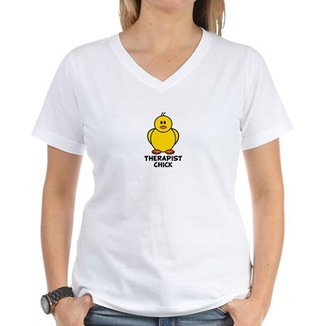 Therapist Chick Women's V-Neck T-Shirt