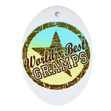 Worlds Best Gramps Oval Ornament