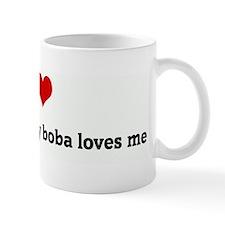 I Love my boba and my boba lo Small Mug
