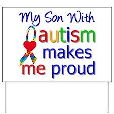 Autism Proud Ribbon Yard Sign