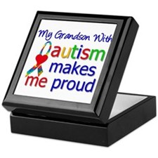 Autism Proud Ribbon Keepsake Box