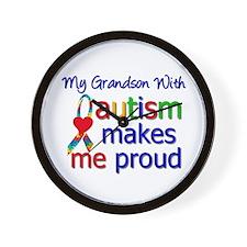 Autism Proud Ribbon Wall Clock