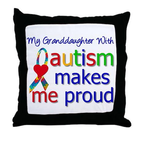 Autism Proud Ribbon Throw Pillow